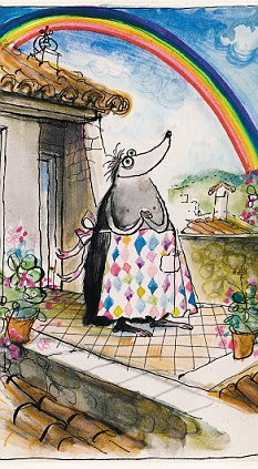 Searle's Mrs Mole creation. His work was a unique combination between the funny and the wickedly bleak