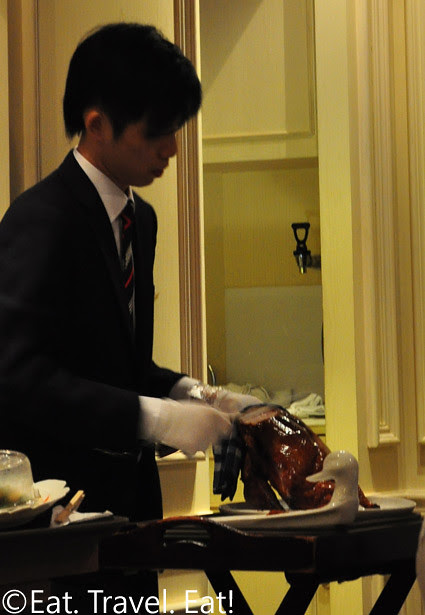 Waiter Carving Peking Duck- Peking Garden, Pacific Place