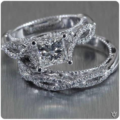 Verragio white gold, diamond encrusted, twisted shank band