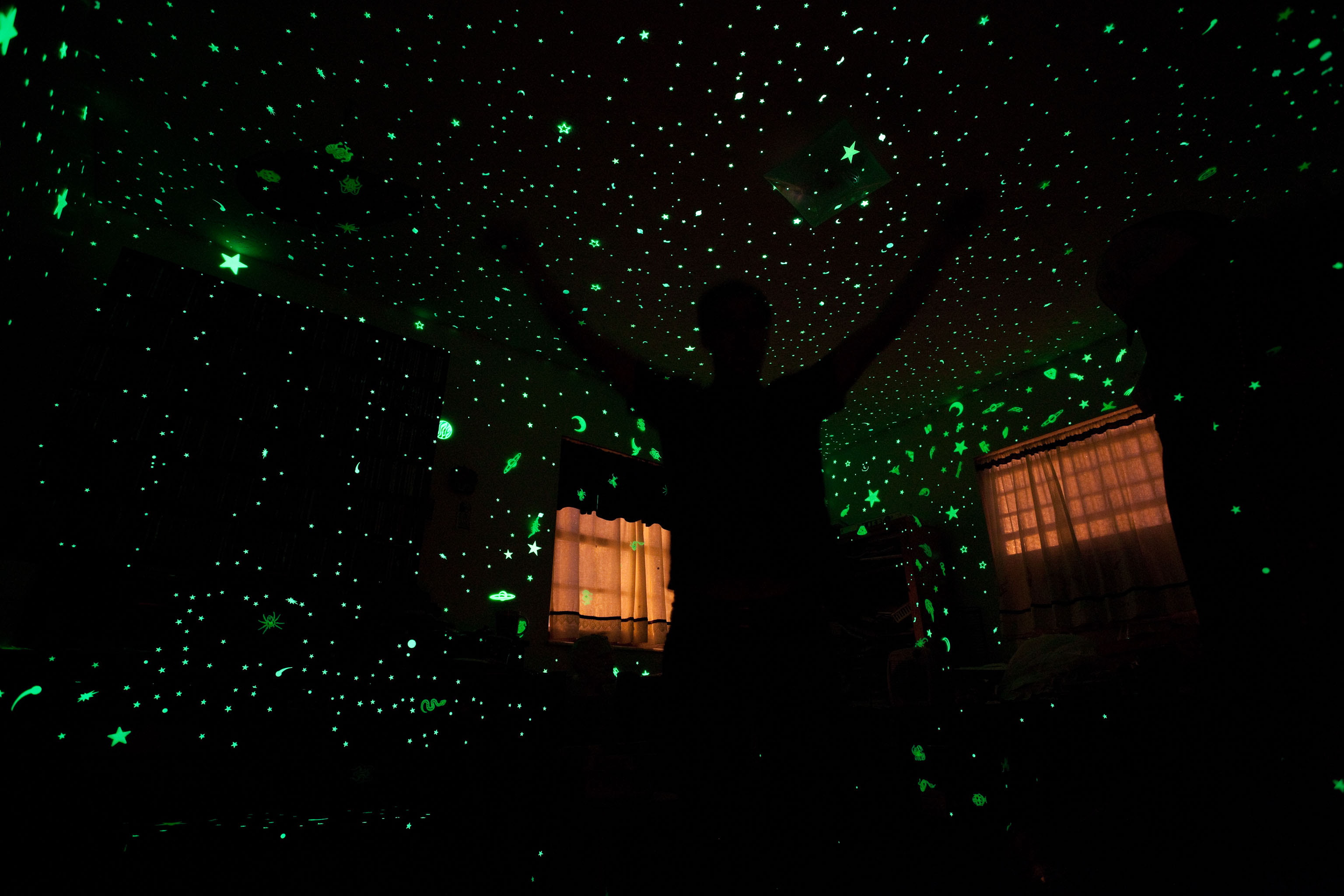Me In My Room With My Glow In The Dark Stars Pics