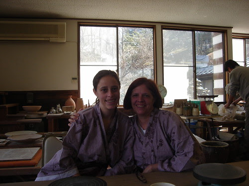 Me and My Mom before doing pottery