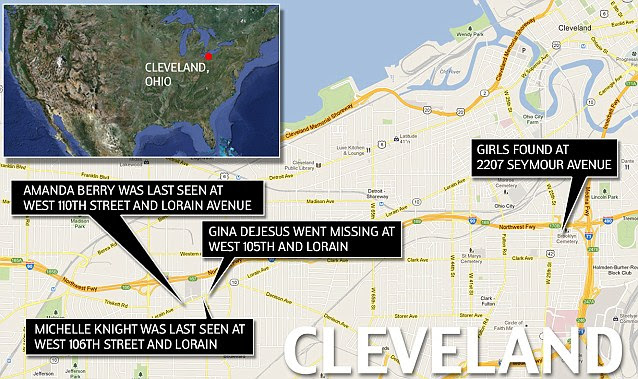 ***LOCATOR MAP: Missing Girls Cleveland