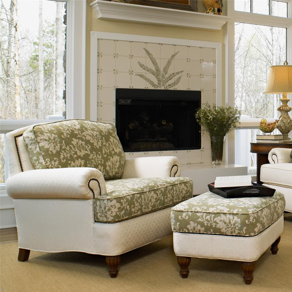 Perfect Chairs With Ottomans For Living Room - HomesFeed