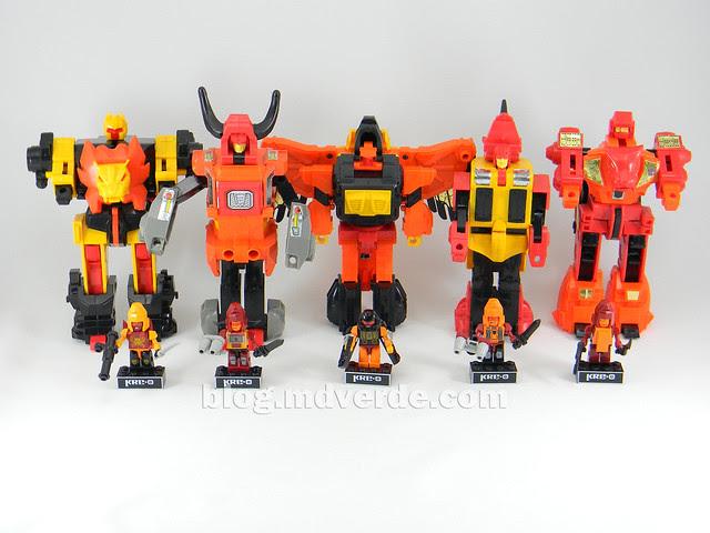 Transformers Predaking Kre-O - modo robots vs G1
