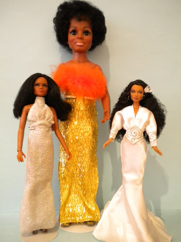 Musical Entertainers - Diana Ross - Mego 1977 - Ideal 1969, Mattel 2003