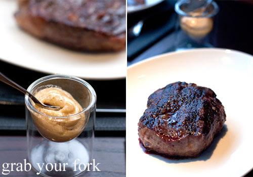 scotch fillet steak at black by teage ezard