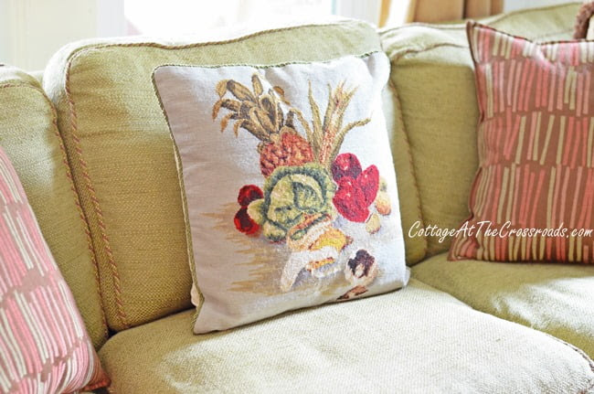 vegetable pillow | Cottage at the Crossroads
