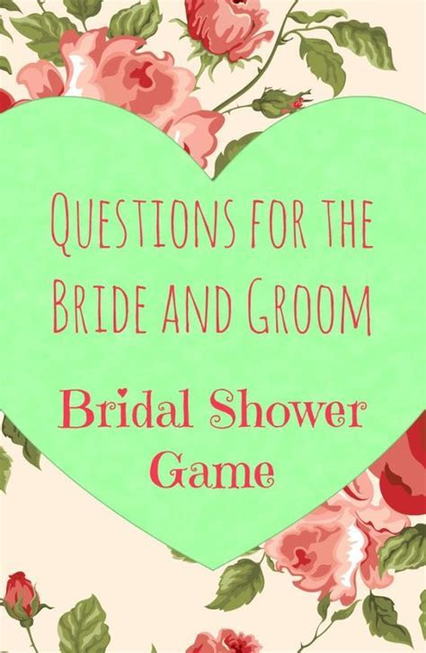 Best Bridal Shower Game Ever & Questions to Ask The Bride