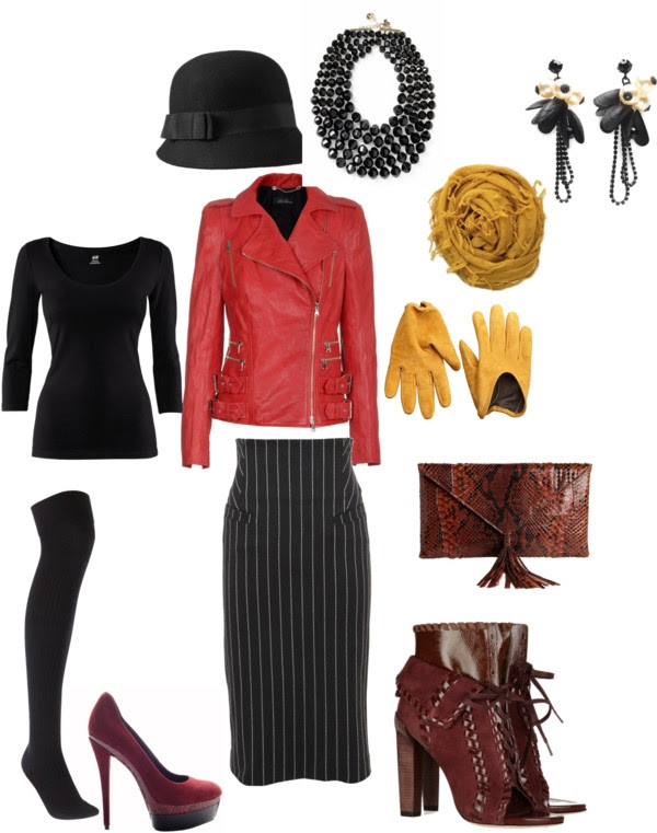 """""""Red Leather Jacket"""" by splenderosa on Polyvore"""