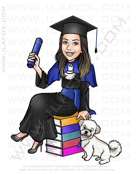 caricatura formatura, caricatura formando, caricatura faculdade, caricatura bonita, by ila fox