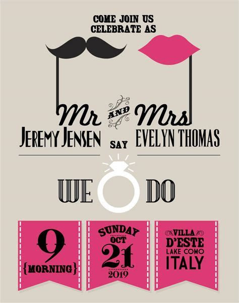 Creative Wedding Poster Design Vector [EPS]