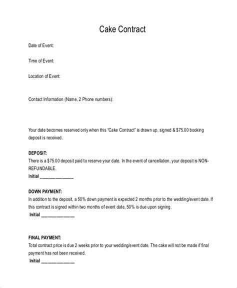 FREE 10  Sample Cake Order Forms in WORD   PDF