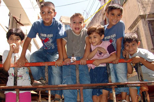 Happy Tripoli children