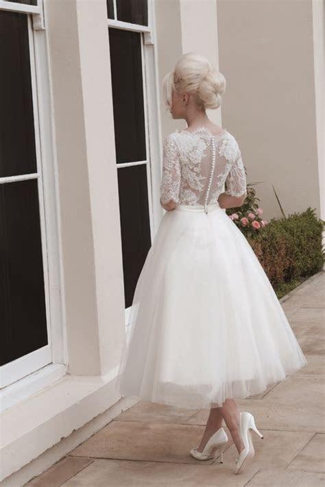 time  tea length wedding dresses wedding gown