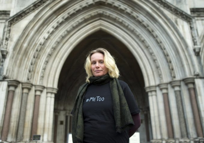 Kate Wilson outside the Royal Courts of Justice, 3 October 2018