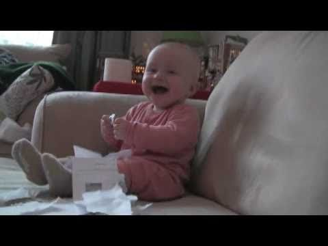 baby laughing hysterically at ripping paper A video of an eight-month-old baby laughing hysterically while his father rips up a job rejection letter has become a youtube hit after going viral a month after it was uploaded.