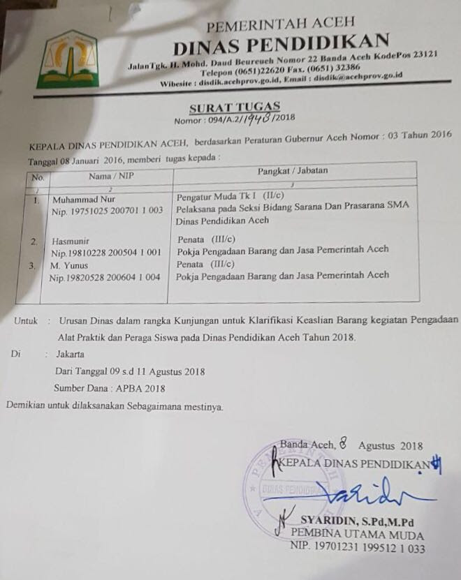 Kop Surat Dinas Pendidikan Kota Tangerang Selatan - Contoh ...