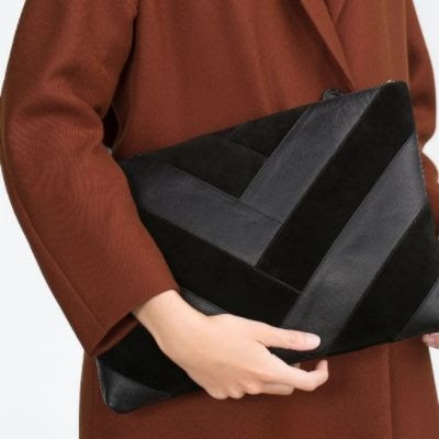 Zara Combined Leather Clutch