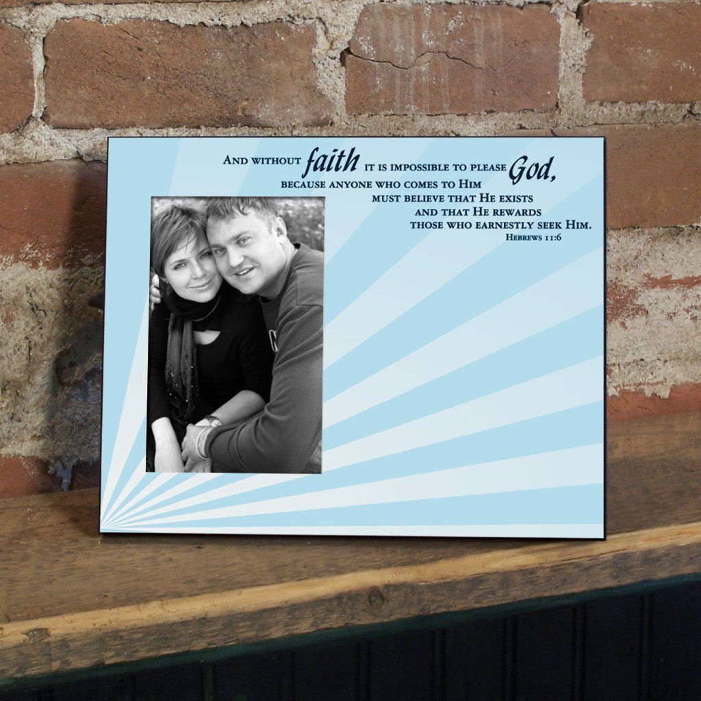 Hebrews 116 Decorative Picture Frame Holds 4x6 Photo