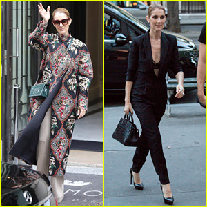Celine Dion Shows Off Her Style Ahead of Berlin Concert