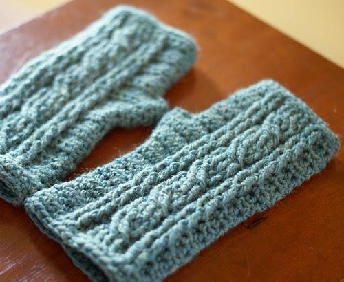Wool wrist warmers