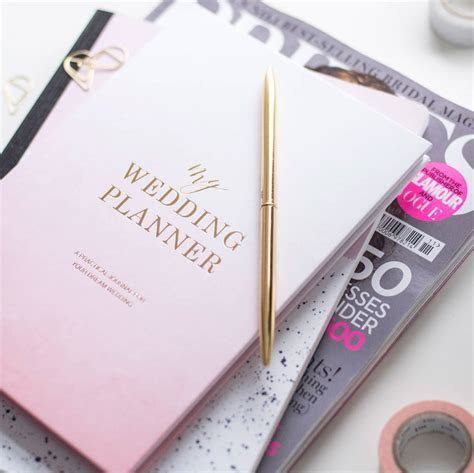 luxury engagement gift, wedding planner book ombre by