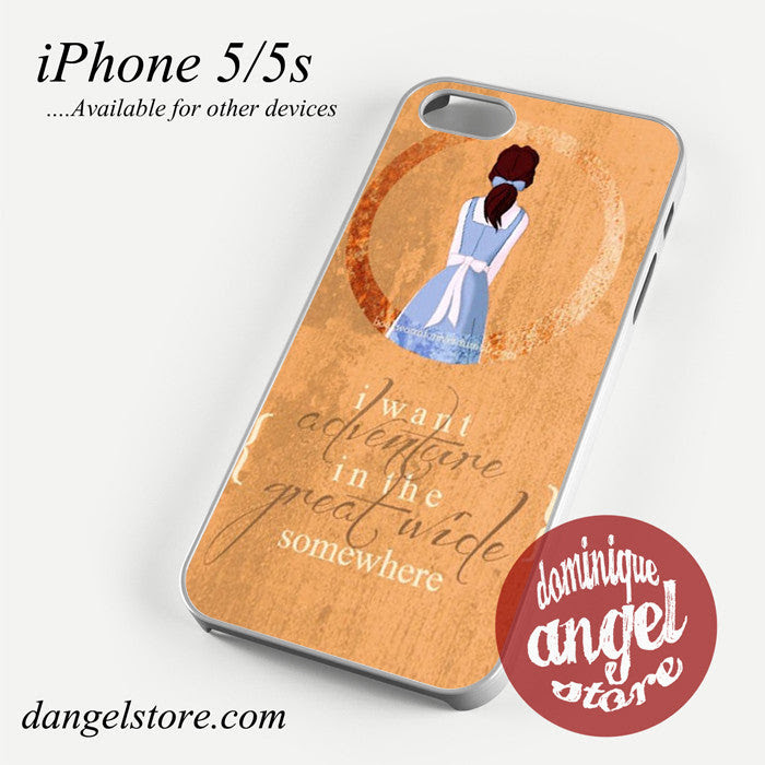 Beauty And The Beast Belle Quotes Phone Case For Iphone 44s55c5s