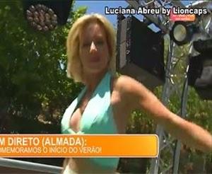 Luciana Abreu sensual em 2 videos na festa de Verão da Sic do dia 20 Junho
