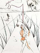 Salvador Dalí - Whips Alley: From the Venus in Furs Suite (Prints)