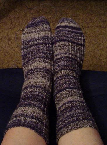 Finished Retro Rib socks