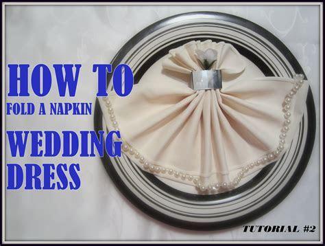 Napkin Folding: a Napkin Wedding Dress