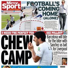 Daily Mirror back page