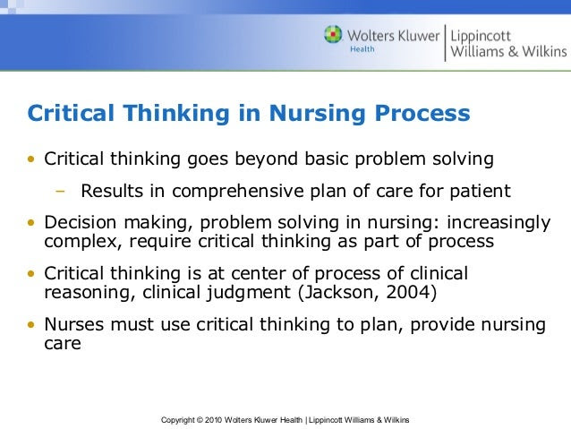Critical thinking course for nurses