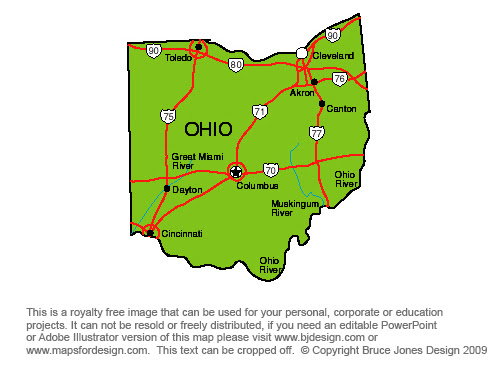 Ohio State Information - Symbols, Capital, Constitution ... |Ohio State Capital Map