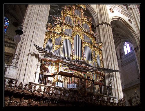 Organo de Evangelio de la Catedral Nueva de Salamanca - visto desde el coro