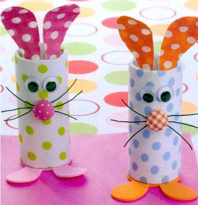 toilet paper bunnies