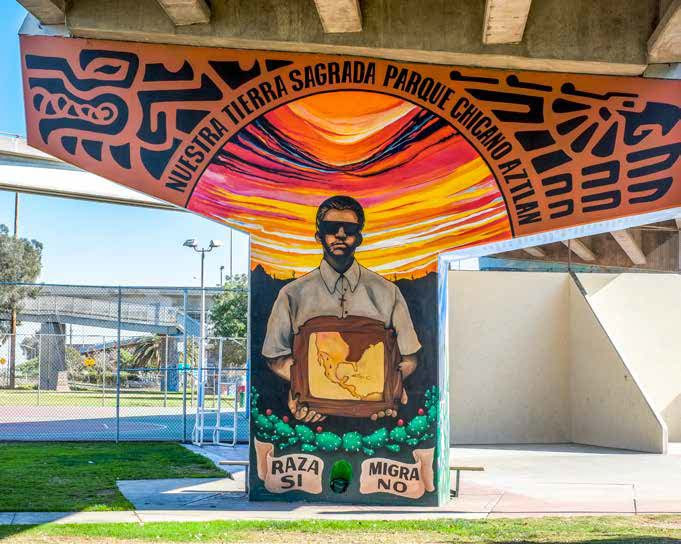 Mural Of Mexicano Contributions To Southwest Culture