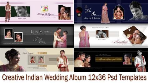 Creative Indian Wedding Album 12x36 Psd Templates   By