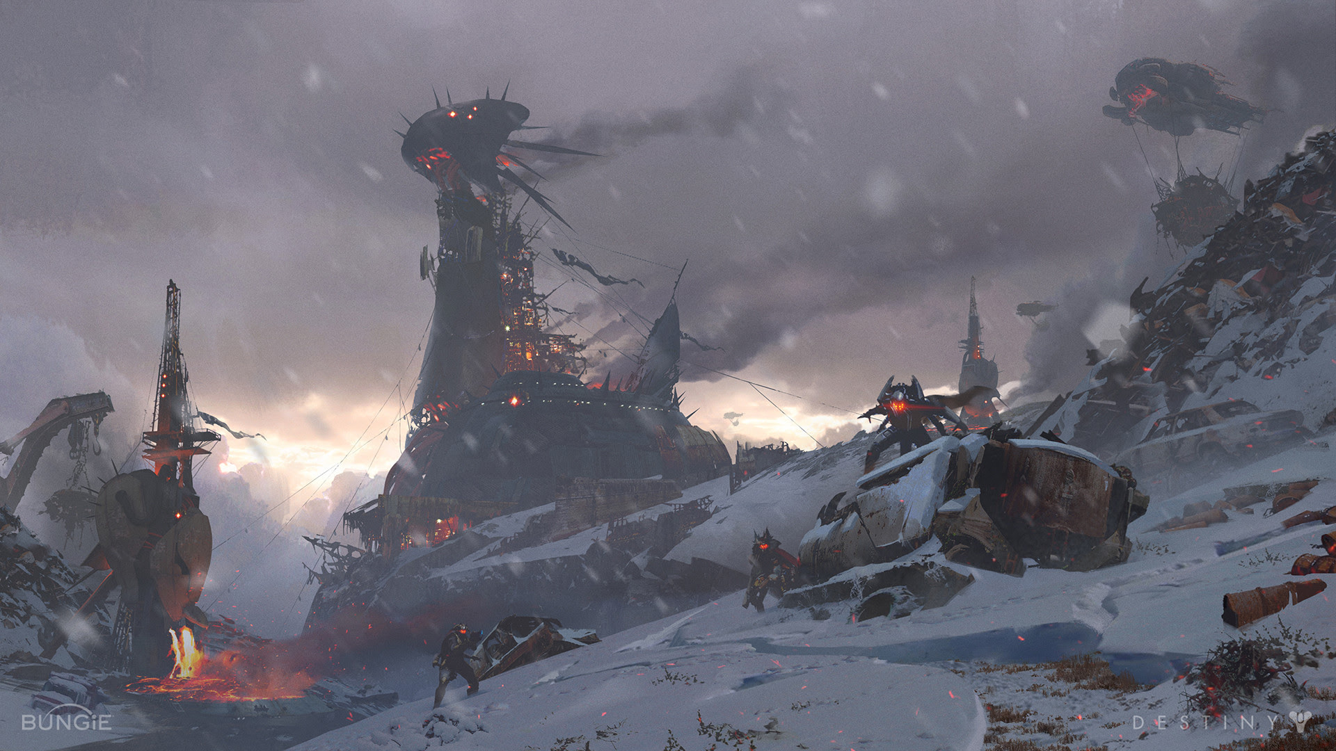 Destiny Rise Of Iron Concept Art By Sung Choi Concept Art World