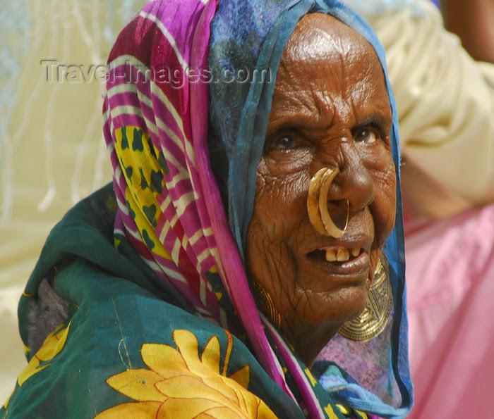 Eritrea Keren Anseba Region Old Tigrinya Woman With Nose