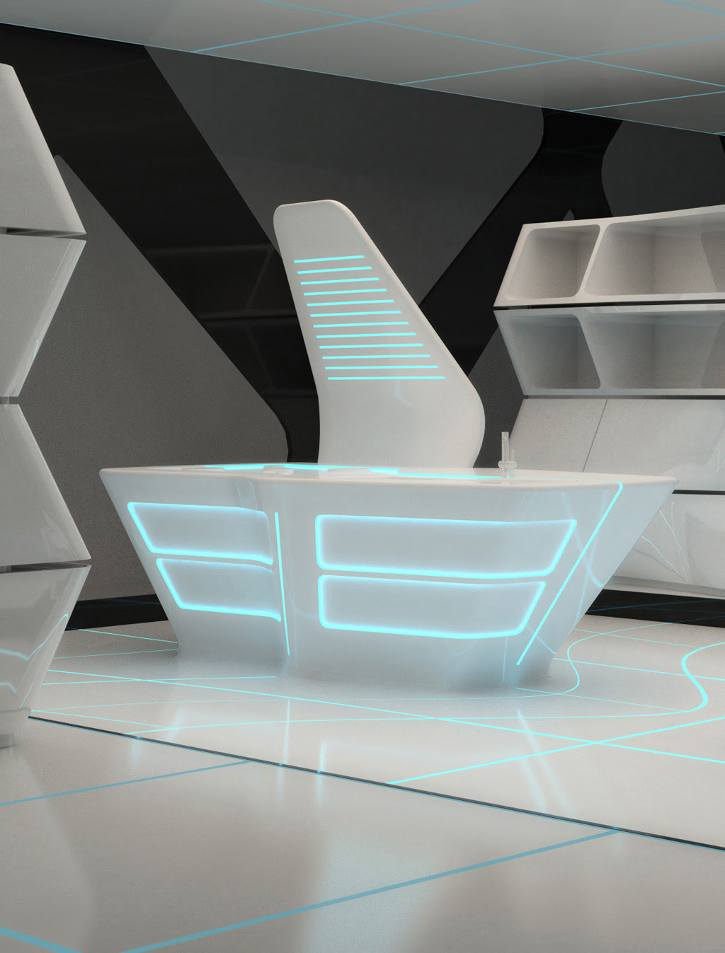 Kitchen Inspired by TRON: Legacy \/ AquiliAlberg  eVolo  Architecture Magazine