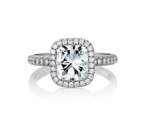 De Beers Aura Cushion Cut Solitaire Ring J1DD13F20P   De Beers