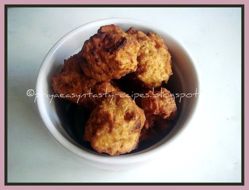 Yam and oats fritter