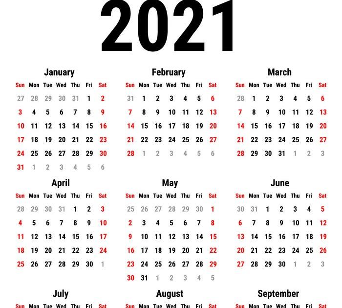 Uah Spring 2022 Calendar.2021 Calendar Vector Stock Academic Calendar