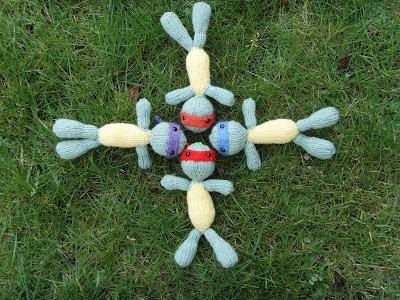 free teenahe mutant ninja turtles knitting pattern TMNT toy