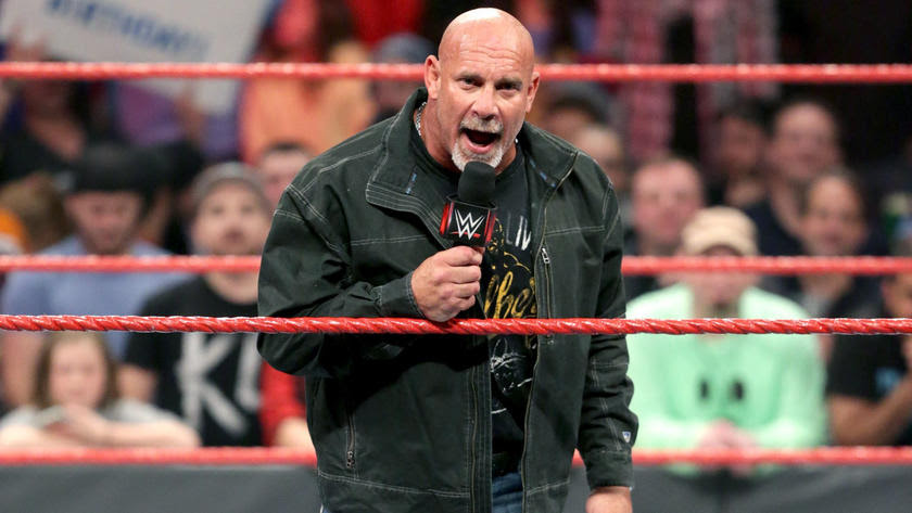 And after thinking about what she said, Goldberg came to Raw to announce that he is competing in the 2017 Royal Rumble Match.