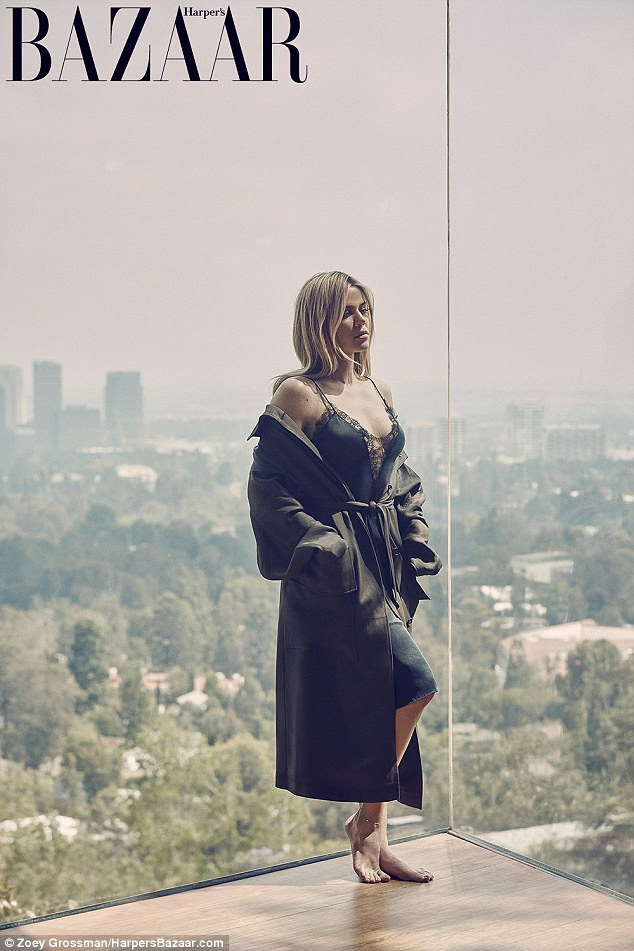 A stunning sight: Khloe Kardashian looks gorgeous in a natural photo shoot for harpersBAZAAR.com