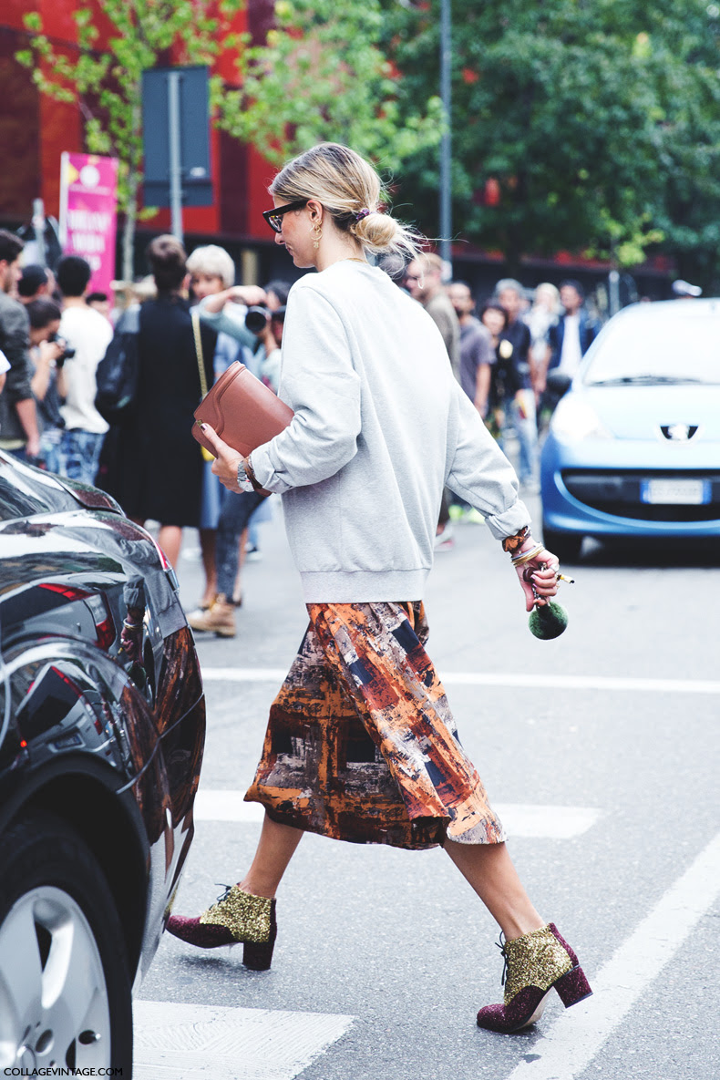 Milan_Fashion_Week_Spring_Summer_15-MFW-Street_Style-Midi_Skirt-Sweatshirt-Sequined_Boots-