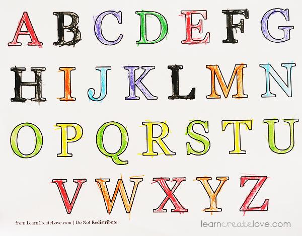 Printable Alphabet & Numbers Worksheets