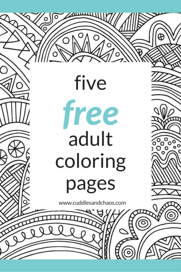 Treat Yo Self | Free Adult Coloring pages | Cuddles & Chaos